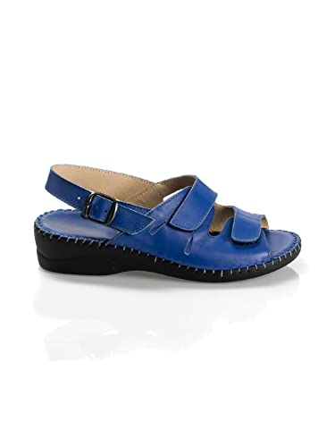 Avena Damen Supersoft-Sandalette Fußschmeichler Blau
