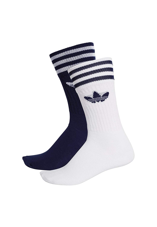 Adidas Solid Crew 2PP Calcetines, Unisex Adulto, azuosc/Blanco, 39/42: Amazon.es: Deportes y aire libre