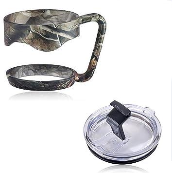 EVERMARKET mango + prueba de salpicaduras Resistente a las salpicaduras tapa de vaso para Yeti Rambler