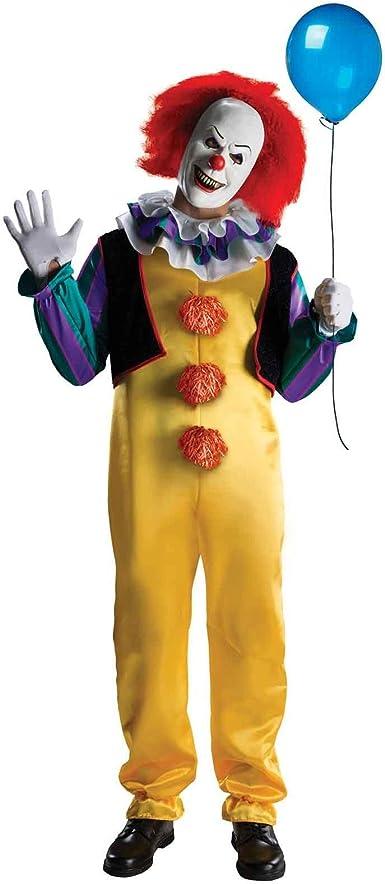 Amazon.com: Disfraz de Pennywise, payaso bailarín aterrador de la película de terror It, basada en un libro de Stephen King, para adulto, Adulto, Multicolor: Clothing