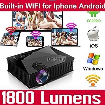 ARBUYSHOP Miracast Airplay Wifi del cine en casa 3D 1800lumens HD ...