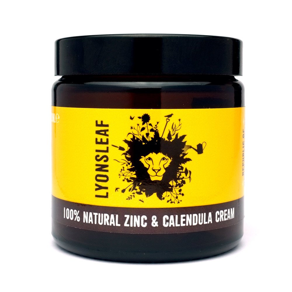 Zinc and Calendula Cream 100% Natural - for spots, blemishes, breakouts, rashes, problem skin and nappy rash 120ml Lyonsleaf