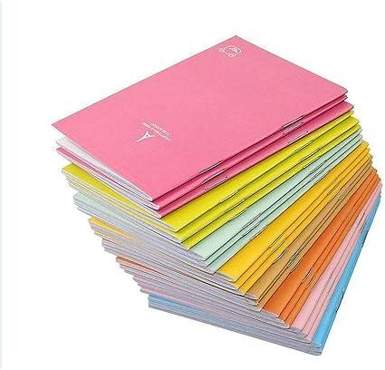 Heatleper - Pack de 20 cuadernos de notas para oficina, escuela, viaje, color al azar: Amazon.es: Oficina y papelería