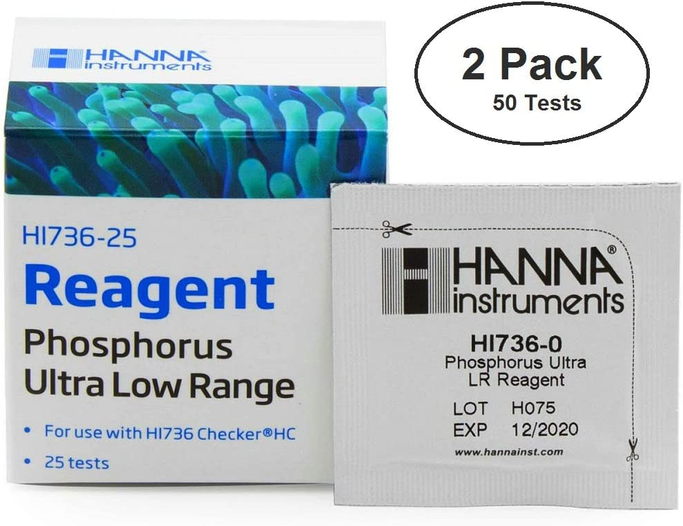 Two-Pack: Hanna Instruments HI 736-25 Phosphorus Reagents (50 Tests)