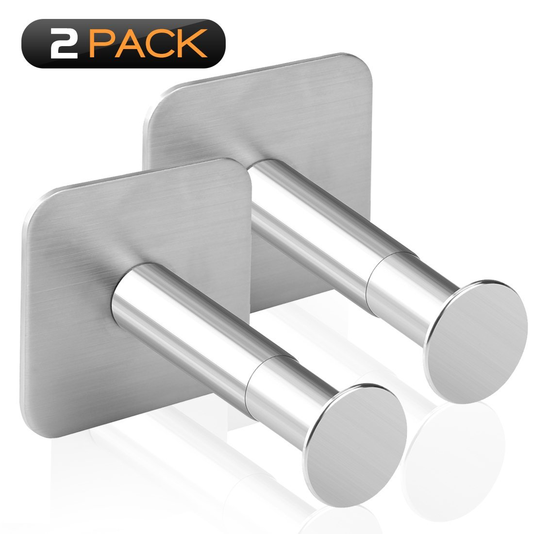 Geekria Extensible Headphone Stand Holder, Stainless Steel Stick-On with 3M Adhesive Hooks Under Desk, Stick on smooth wall, Dual Headset Hanger Mount for Most of Headphones (2pcs) EJJ3708