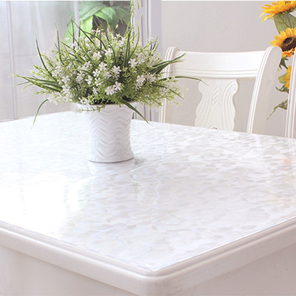 Gtt Soft glass PVC tablecloth waterproof anti-hot oil table crystal table coffee table transparent pad (color   A, Size   70x70cm)