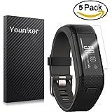 Youniker Displayschutzfolie für die Garmin Vivosmart HR + und Approach X40 Armbanduhren, kristallklar, volle Abdeckung, kratzfest, keine Fingerabdrücke, blasenfreie Folie, 5er-Packung