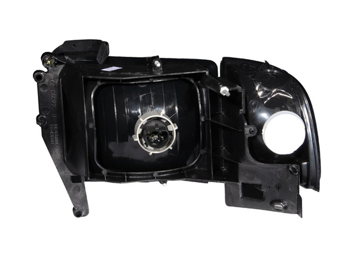 Anzo USA 111068 Dodge Ram Crystal Chrome with Corner Headlight Assembly Sold in Pairs