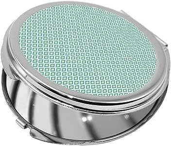مرآة جيب، بتصميم زخرفة ، شكل دائري