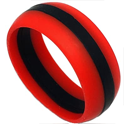 ASR ACTIVE SILICON RINGS 8MM Silicon Rubber Wedding Band Ring