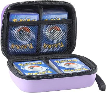Annle Estuche portátil para Tarjetas de Comercio Pokemon, admite hasta 400 Tarjetas de Comercio Pokemon, Estuche rígido de EVA Duradero con Correa de Mano (Purple): Amazon.es: Juguetes y juegos