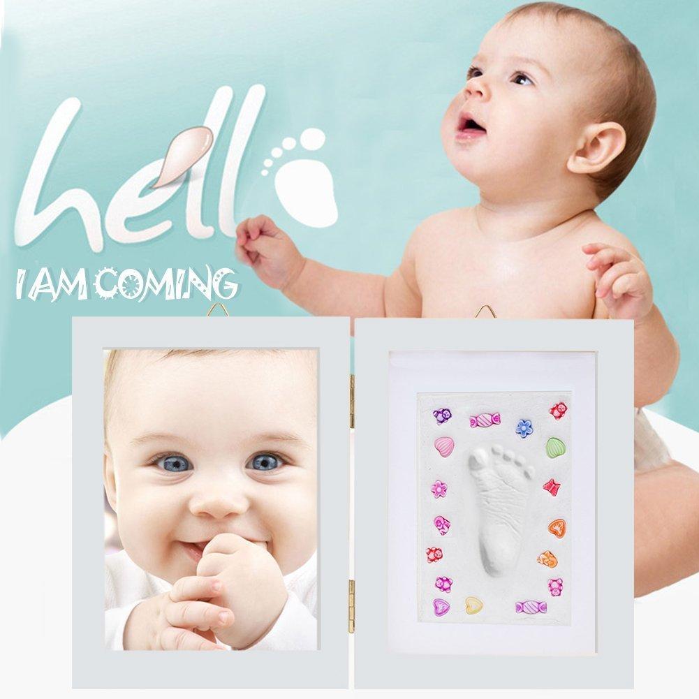 COOLJOY Kit De Marco De Huellas De Mano Y Pie De Bebe Para Niño Y Niña - Regalo De Para Recién Nacido - Blanco(Pequeño): Amazon.es: Bebé
