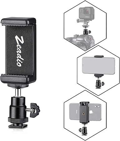 Zeadio Soporte Móvil + Adaptador de rotación de 360 Grados para ...