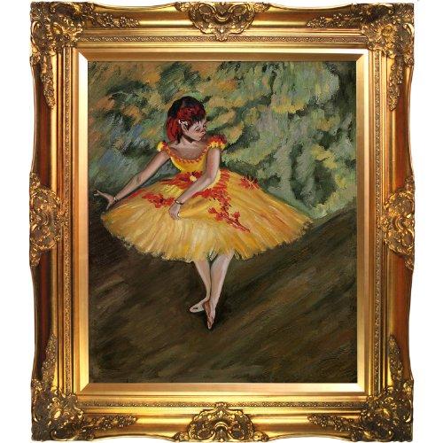 overstockArt Dg2787-Fr-6996G20X24 Degas Dancer Making Points with Victorian Gold Frame, Gold Finish (Frame Dancer)