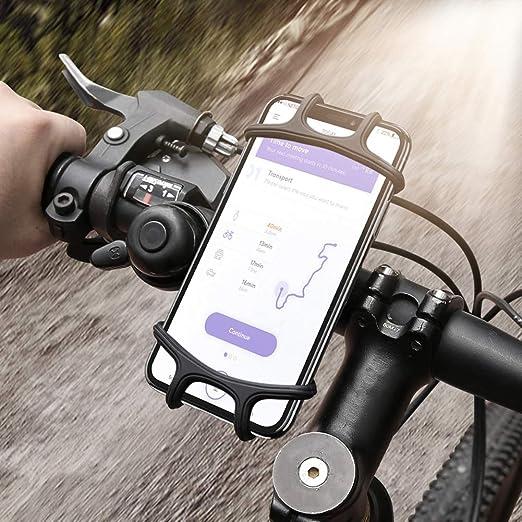Soporte de teléfono para bicicleta, soporte de silicona ajustable ...