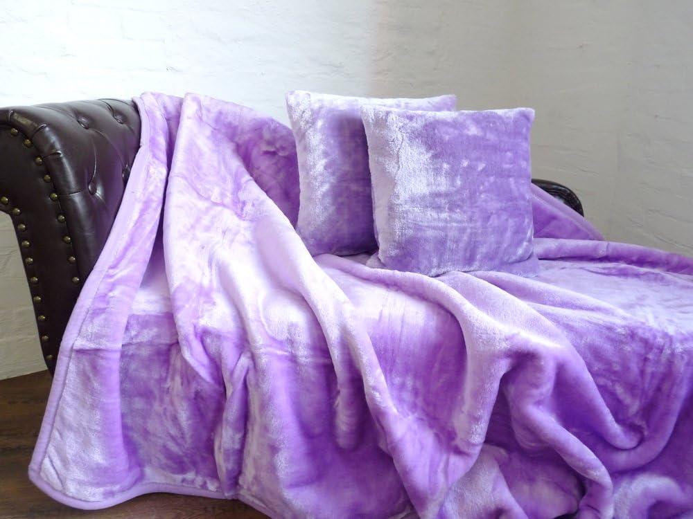 Kissenbezug Kissenhülle  40x40cm lila hell gesteppt Polyester