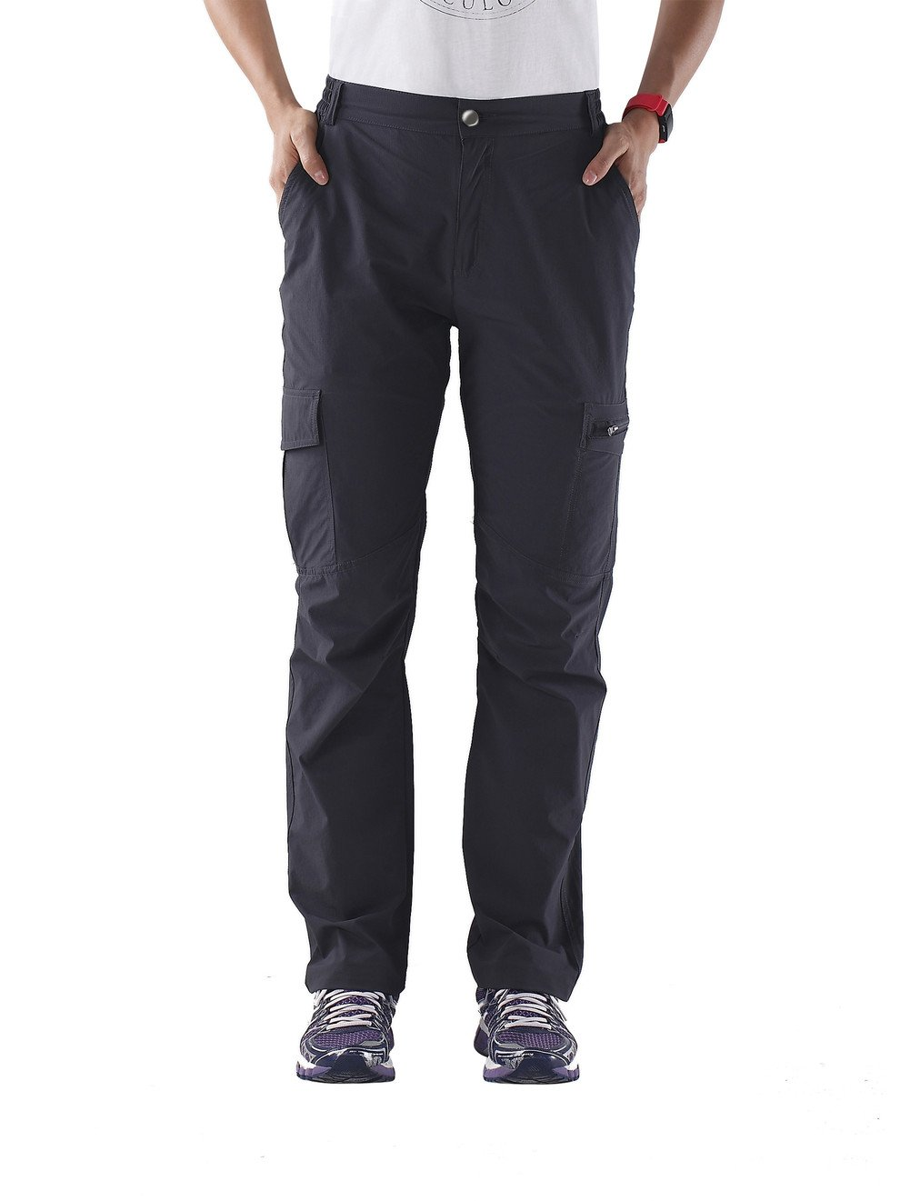 Nonwe Ladies' Tactical Cargo Quick Drying Outdoor Pants Gray XL/32 Inseam by Nonwe