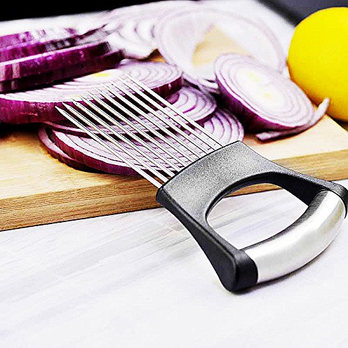 Top Rated – The Best Onion Holder for Slicing All-In-One | Potato holder | Onion Cutter | Onion Chopper Stainless Steel by Keklle