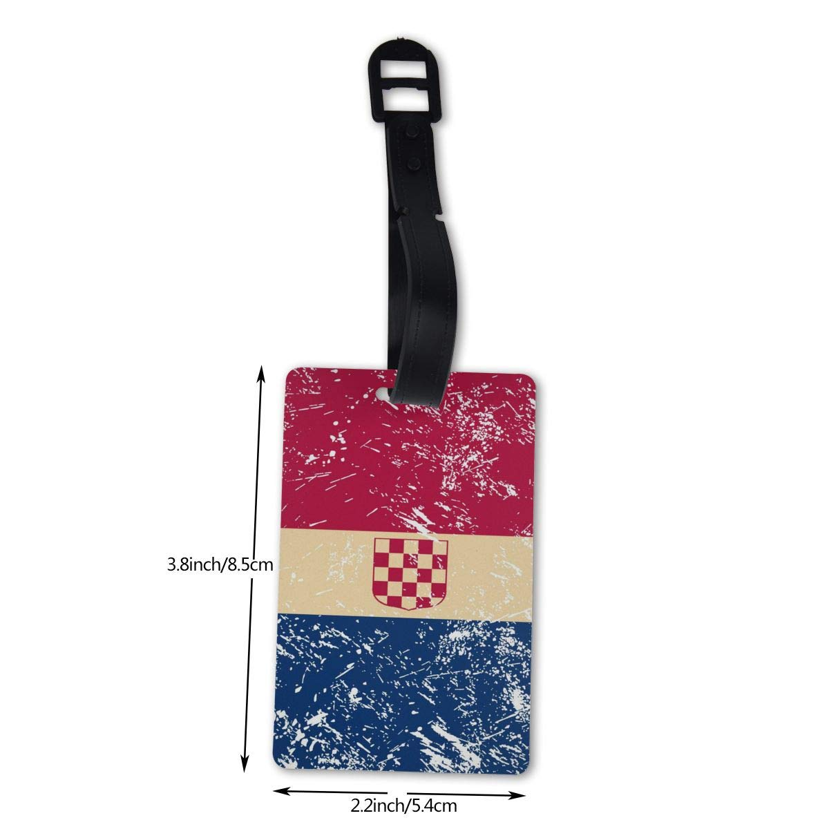 NB UUD Croatia Retro Flag Travel Luggage Tag Cool Employees Card Luggage Tag Holders Travel ID Identification Labels for Baggage Suitcases Bags