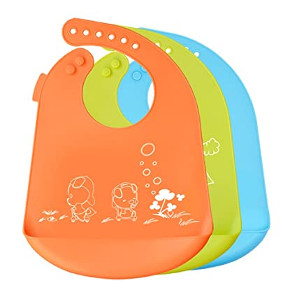 SINOBAND bebé baberos impermeable silicona fácilmente toallitas limpia las manchas cómodo suave niño baberos Keep off