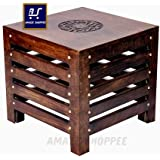 Amaze Shoppee Wooden Beautiful Handmade Stool (Brown)