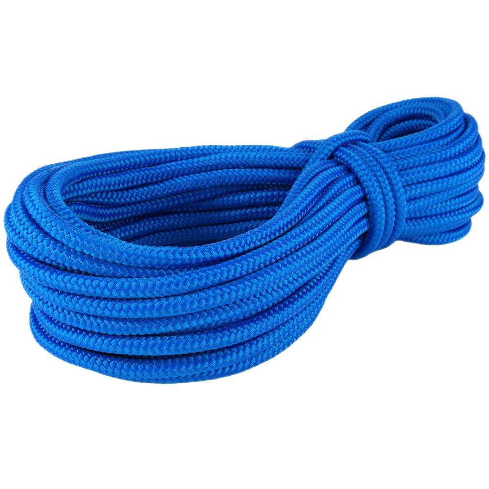 PP Seil Polypropylenseil SH 16mm 50m Farbe Blau (0912) Geflochten