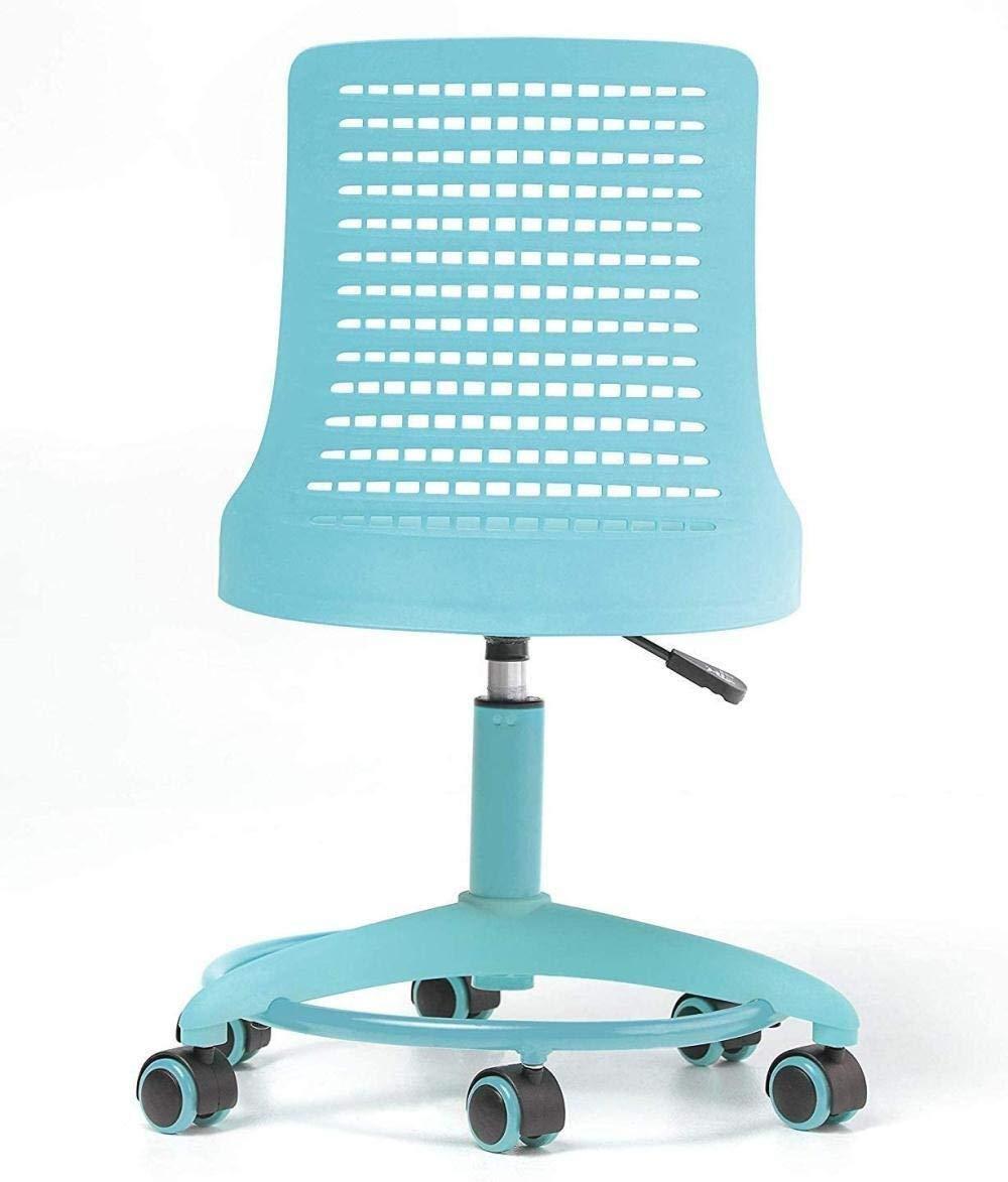 Datorstol kontorsfaktor stol justerbar höjd kontorsstol roterande stol hjul andningsbar bakstol barn fåtölj (färg: Rosa) Rosa