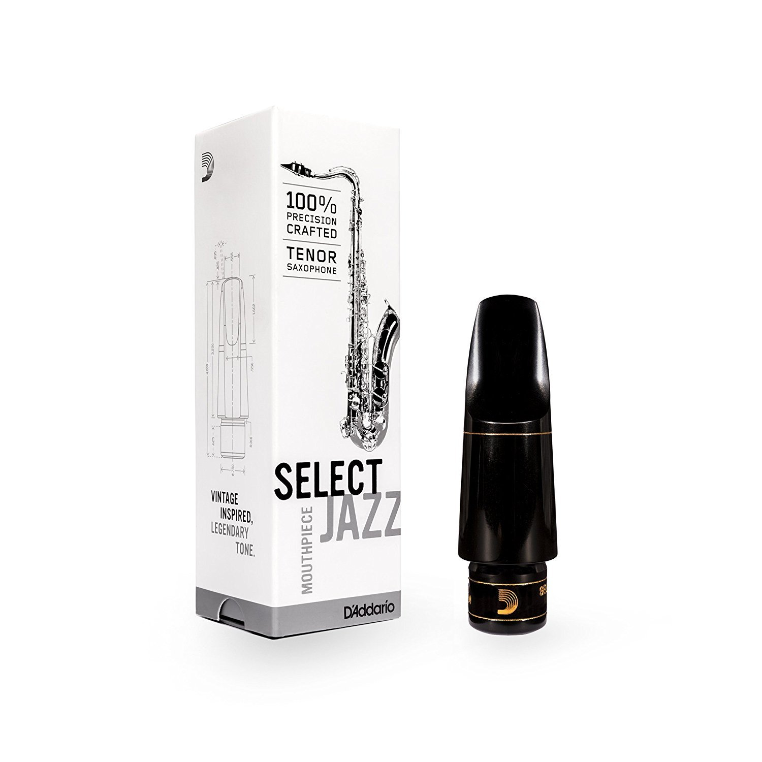 Rico MKS-D7M D'Addario Woodwinds MKS-D8M Tenor Saxophone Mouthpiece D'Addario &Co. Inc