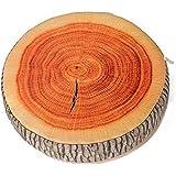 Round Wood Tree Soft Plush Chair Seat Cushion Stump Shaped Pillow