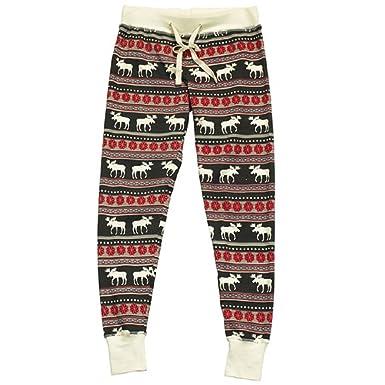 Amazon.com: Lazy One Women's Moose Fair Isle Legging Pajamas ...