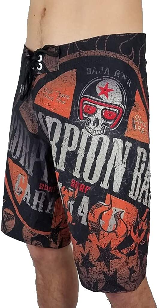 Scorpion Bay Pantaloncini Boardshort Boxer Mare Costume MBS3350 Orange