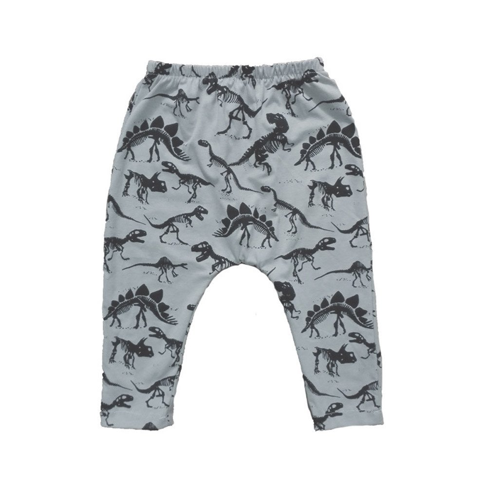 Mstarry Toddler Baby Pants Dinosaurs Print Elasticity Long Lovely Warm Comfortable Trousers