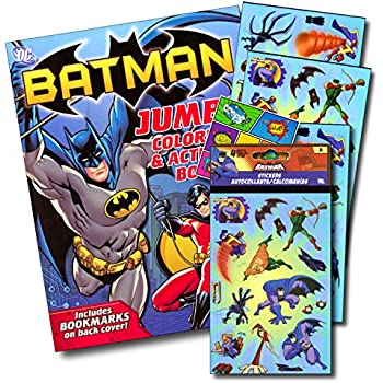 justice league batman coloring book bundle with batman stickers specialty separately licensed gww reward sticker - Batman Coloring Book