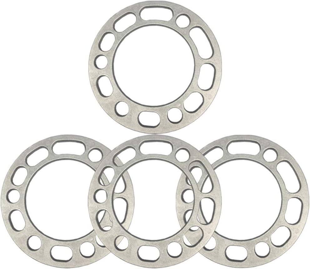 2pcs Wheel Spacers,2//4 Pack Aluminum Alloy 6-Stud 6.5mm Thickness Universal Wheel Spacers 6 X 139.7 PCD