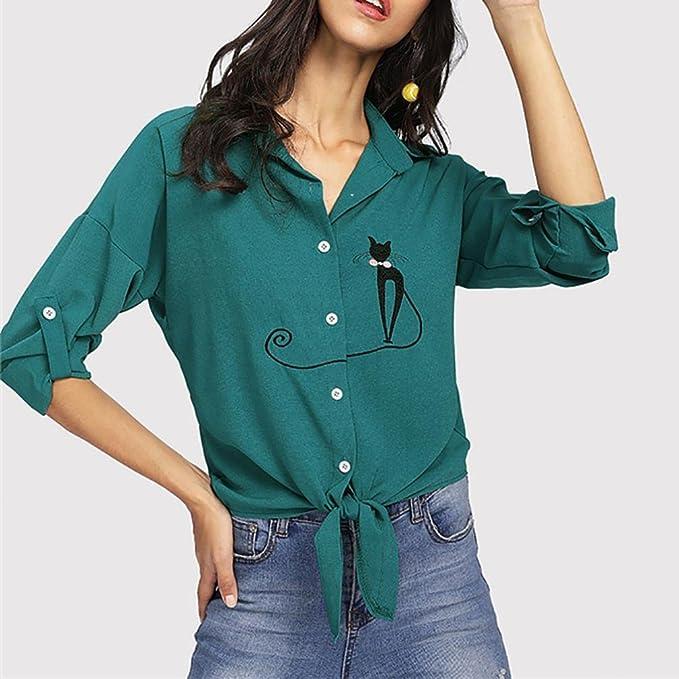Camisas Ronamick Langarmshirt B Manga Larga para Mujer Casual