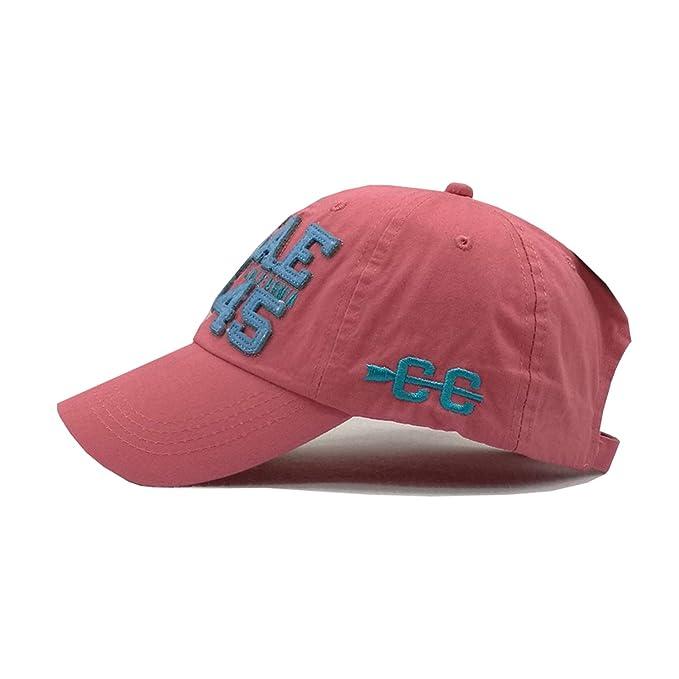 Amazon.com: LONIY] 2018 Summer Cotton Baseball Cap Leisure Gorras militares Hombre Snapbacks Men Bone Masculino dad hat,C: Clothing