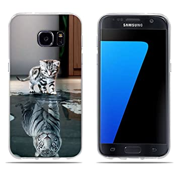 coque samsung galaxy s7 chat silicone