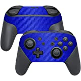 Cheap MightySkins Protective Vinyl Skin Decal for Nintendo Switch Pro Controller wrap cover sticker skins Blue Carbon Fiber
