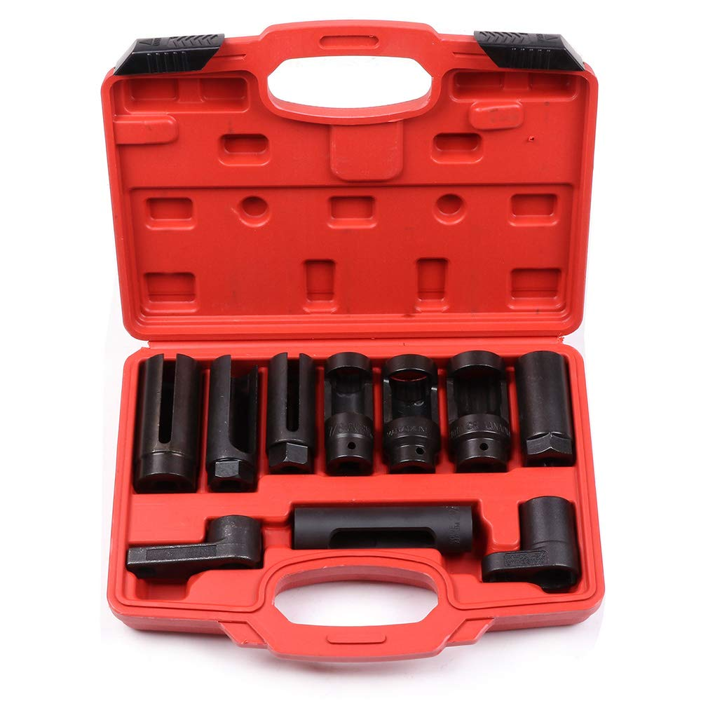 ECCPP Oxygen Sensor Socket Diesel Injection Offset Ratchet Oil Pressure Tool Kit for Most Modern Vehicles 10pcs by ECCPP (Image #1)