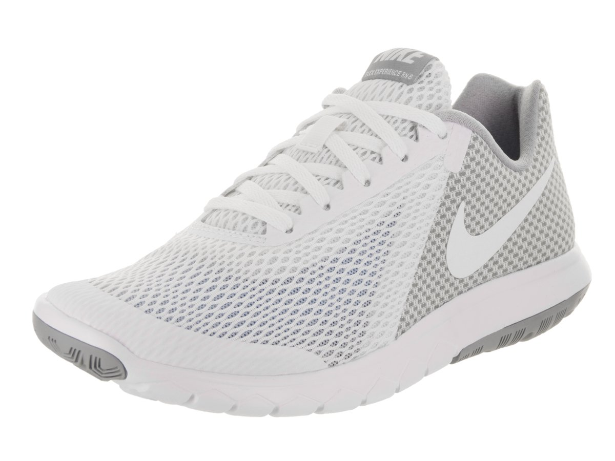 separation shoes 4e29c 8604d Galleon - Nike Womens Flex Experience RN 6 Running Shoe White White Wolf  Grey 7.5 B(M) US