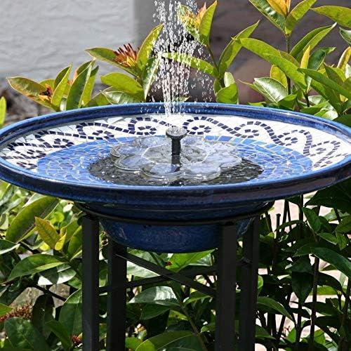 Amazon.com: OMWay Bomba de Fuente Solar, Fuente de Baño de ...