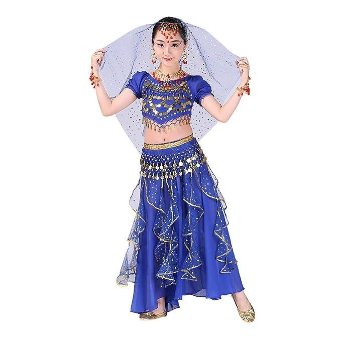 Amazon.com: Disfraz de danza del vientre Hstore, 6 colores ...