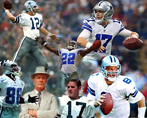 11 x 14 Inch Puzzle Legends On The Dallas Cowboys Football Oil Painting