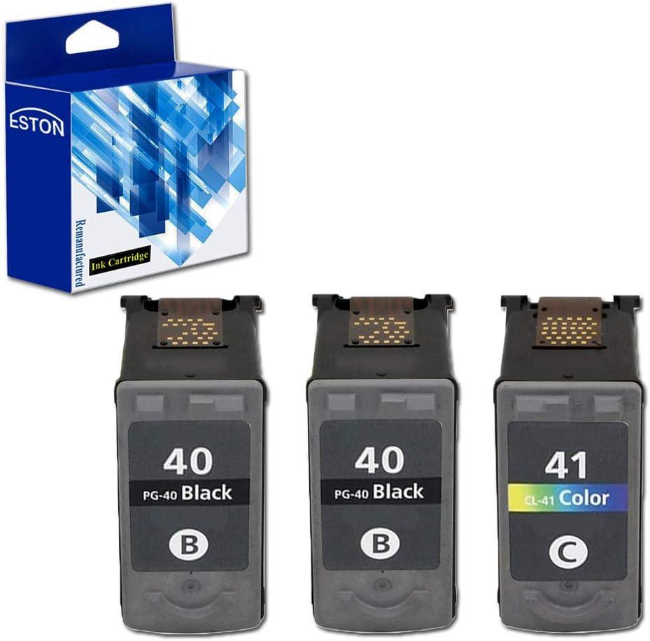 Eston 3 Pack – remanufacturados de repuesto para Canon PG-40 y CL-41 color cartuchos de tinta para Canon Pixma Impresoras de la serie: Amazon.es: Oficina y papelería
