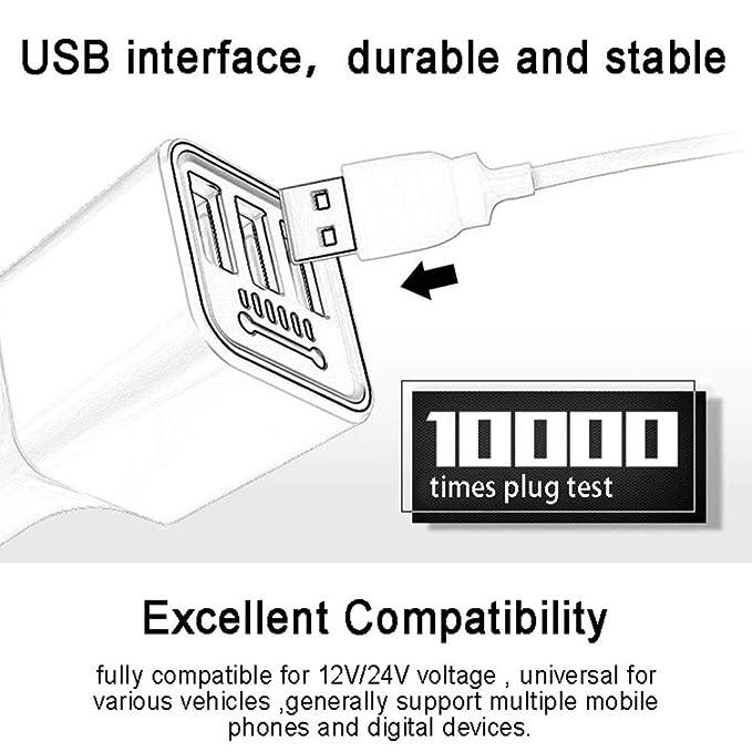 Amazon.com: FAgdsyigao - Cargador de coche con 3 puertos USB ...