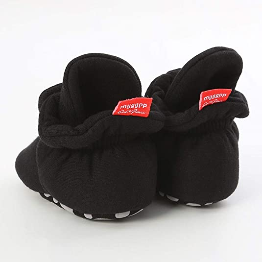 BiBeGoi/Infant/Baby/Girls Boys Cotton Booties Soft Non-Slip Sole Winter Warm Cozy Stay On Socks Newborn Toddler First Walkers Crib Shoes