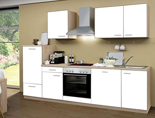 expendio Regio - Bloque de Cocina (280 cm, Madera de Roble), Color Blanco: Amazon.es: Hogar