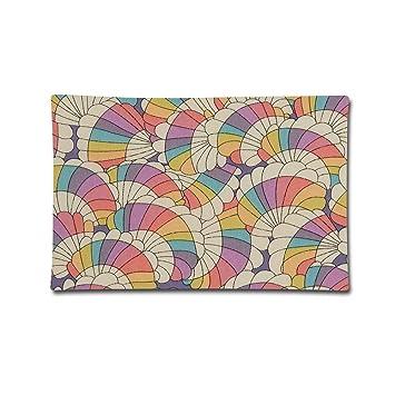 Amazon枕カバー20x 30レインボーシェル芸術的なイラストソフト標準枕