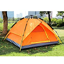 New 3-4 Person Honeycomb Texture Waterproof Outdoor Automatic Camping Tent