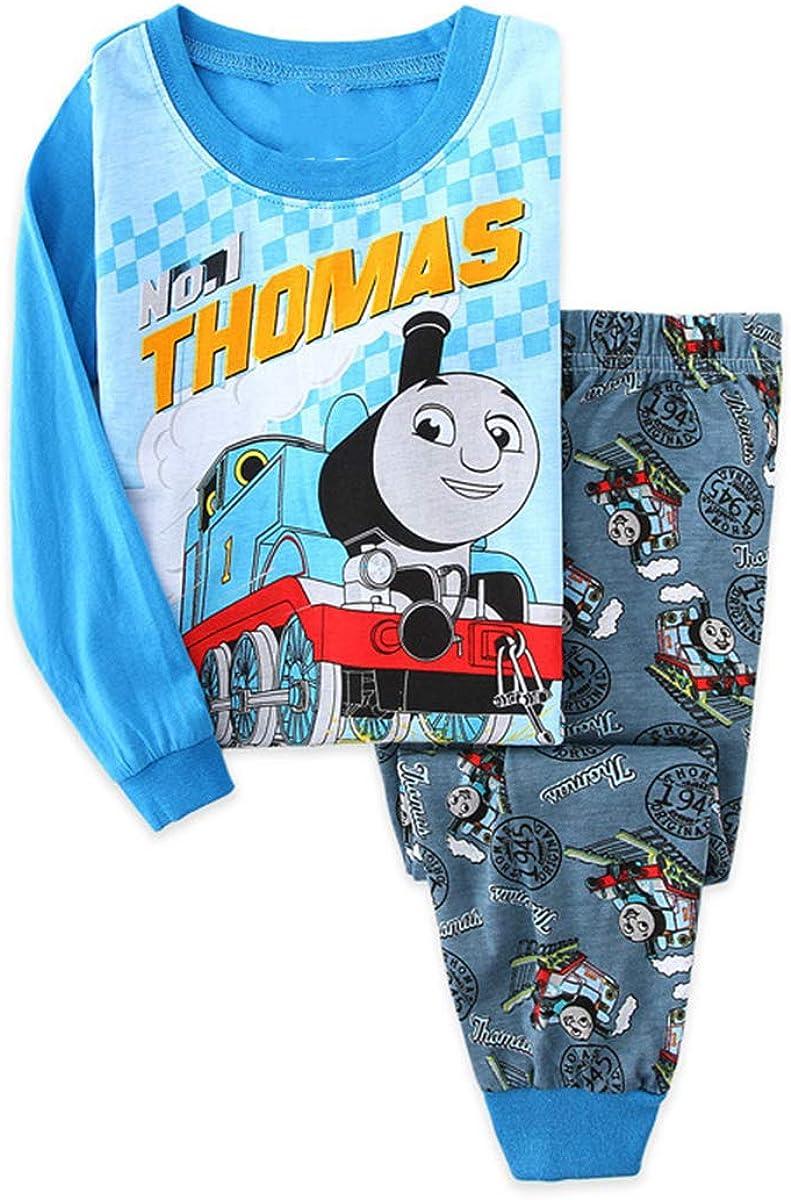 -Little Boys Pajama 2 Piece Sleepwear Set for Boys Girls 2-7Y ZooYi Thomas Pajamas-100/% Cotton Sleepwear